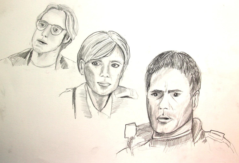 Stargate Cast (Zeichenpapier, 30x40cm)