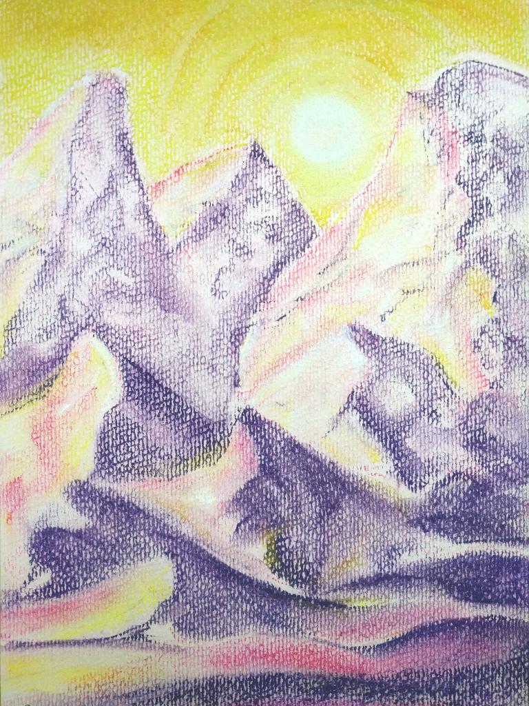 Frühgebirge (Pastellpapier, DIN A4)