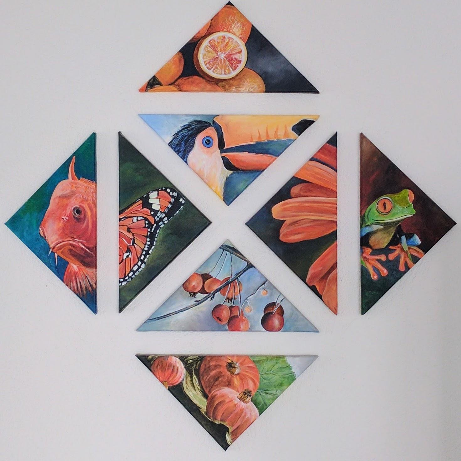 Mix Orange (jeweils 28x40cm)