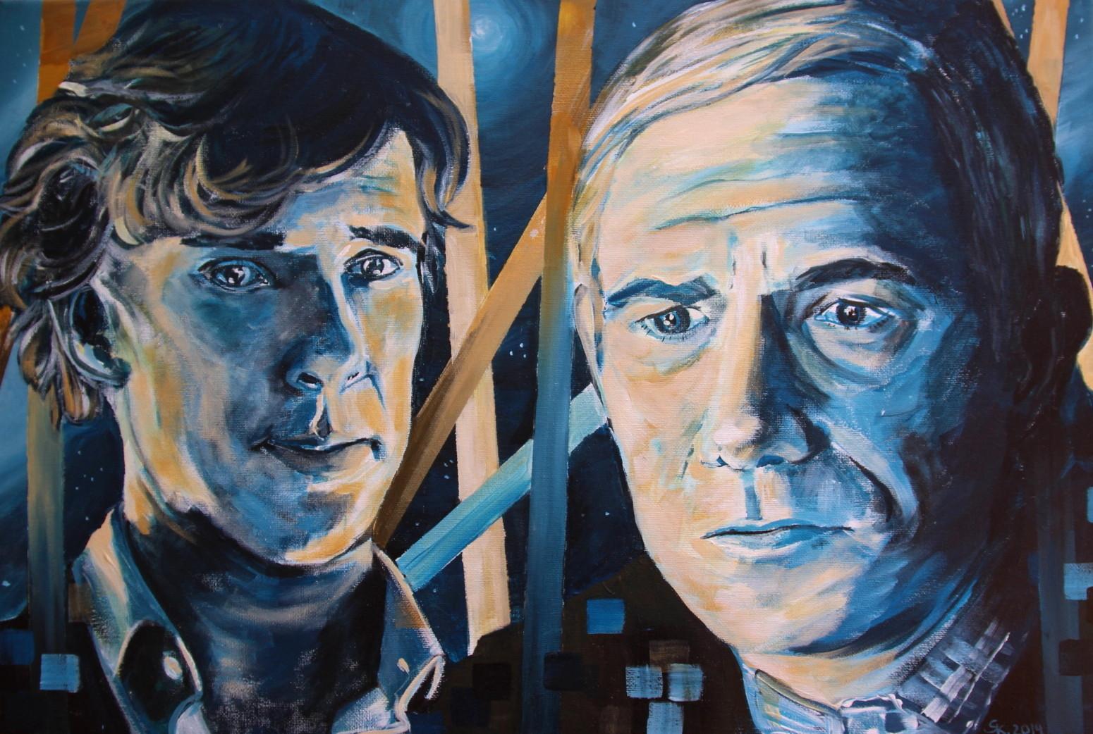 Sherlock und Watson (40x60cm)