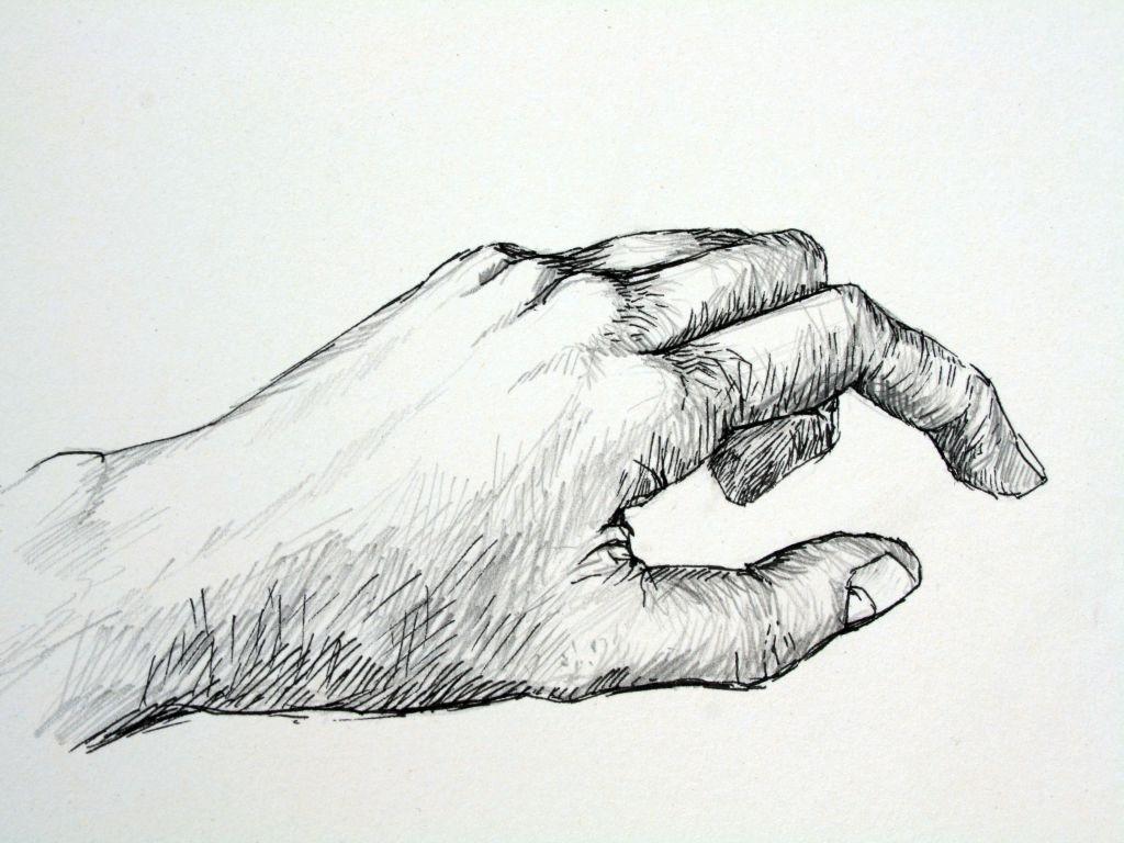 Hand (Zeichenpapier, 30x40cm)