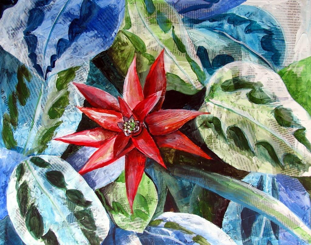 Blumenworte (Leinwand, 50x50cm)
