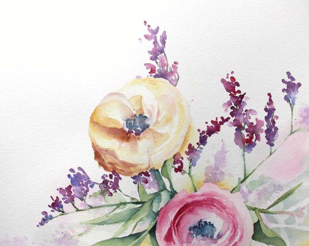 Bouquet (Aquarellpapier, 24x32cm)