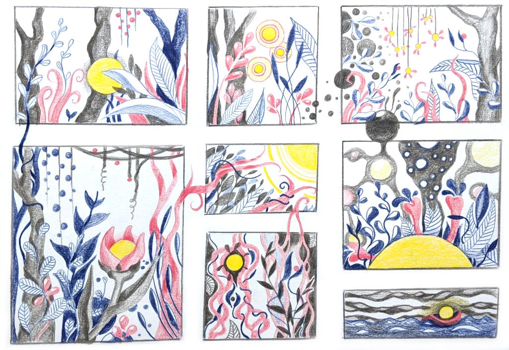 Story of a little light (Skizzenpapier DIN A4)