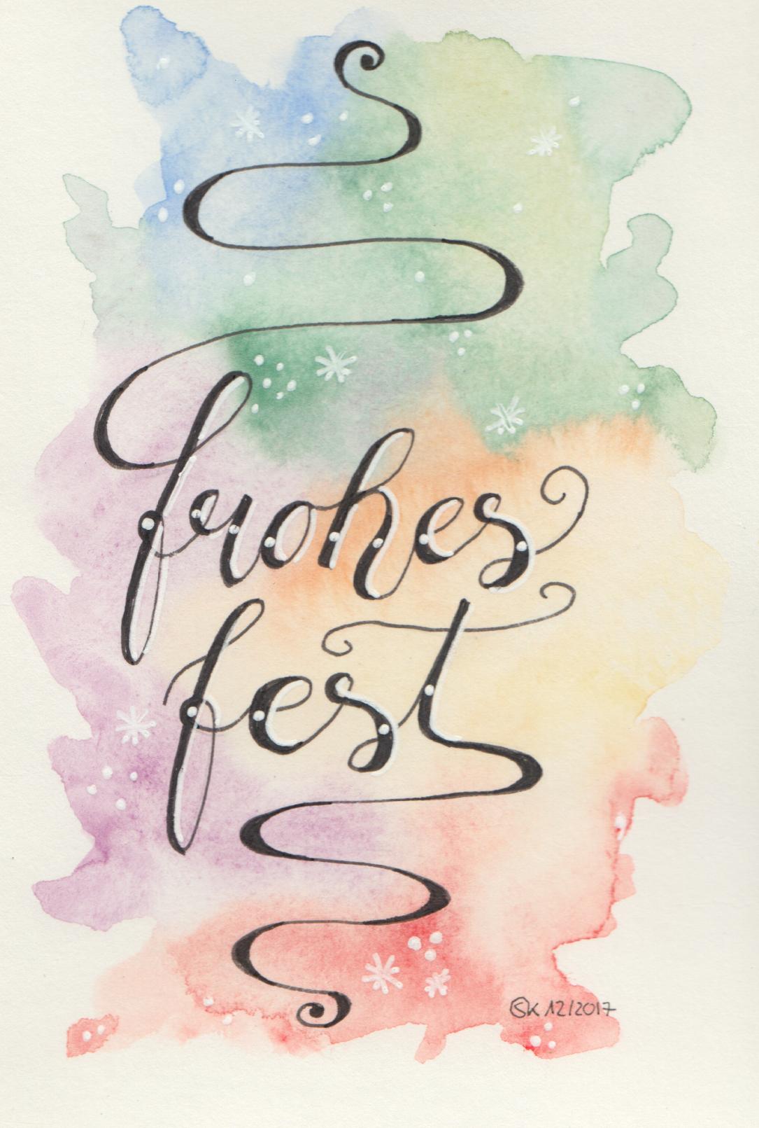 """Weihnachtskarte """"Buntes Fest"""""""