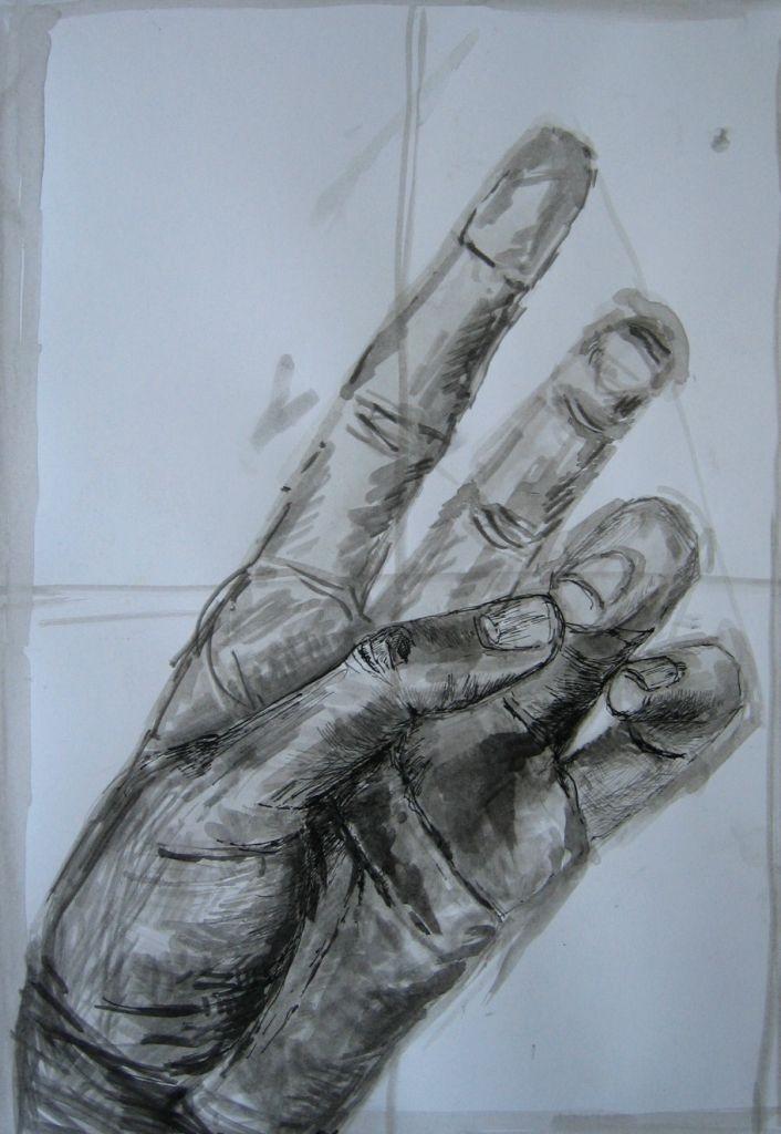 Hand II (Zeichenpapier, DIN A2)