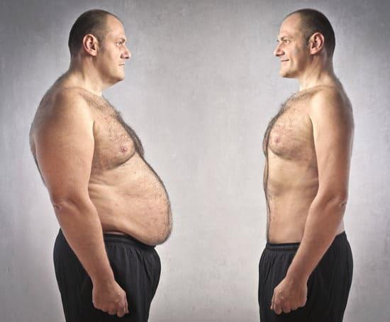 homme gros avant le régime et mince après le régime