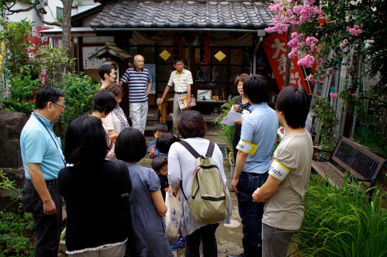 和田帝釈天 ツアーのスタートはここから!商店会の方々に、街の歴史を聞きました。「昔は映画館もあった!」んですって。