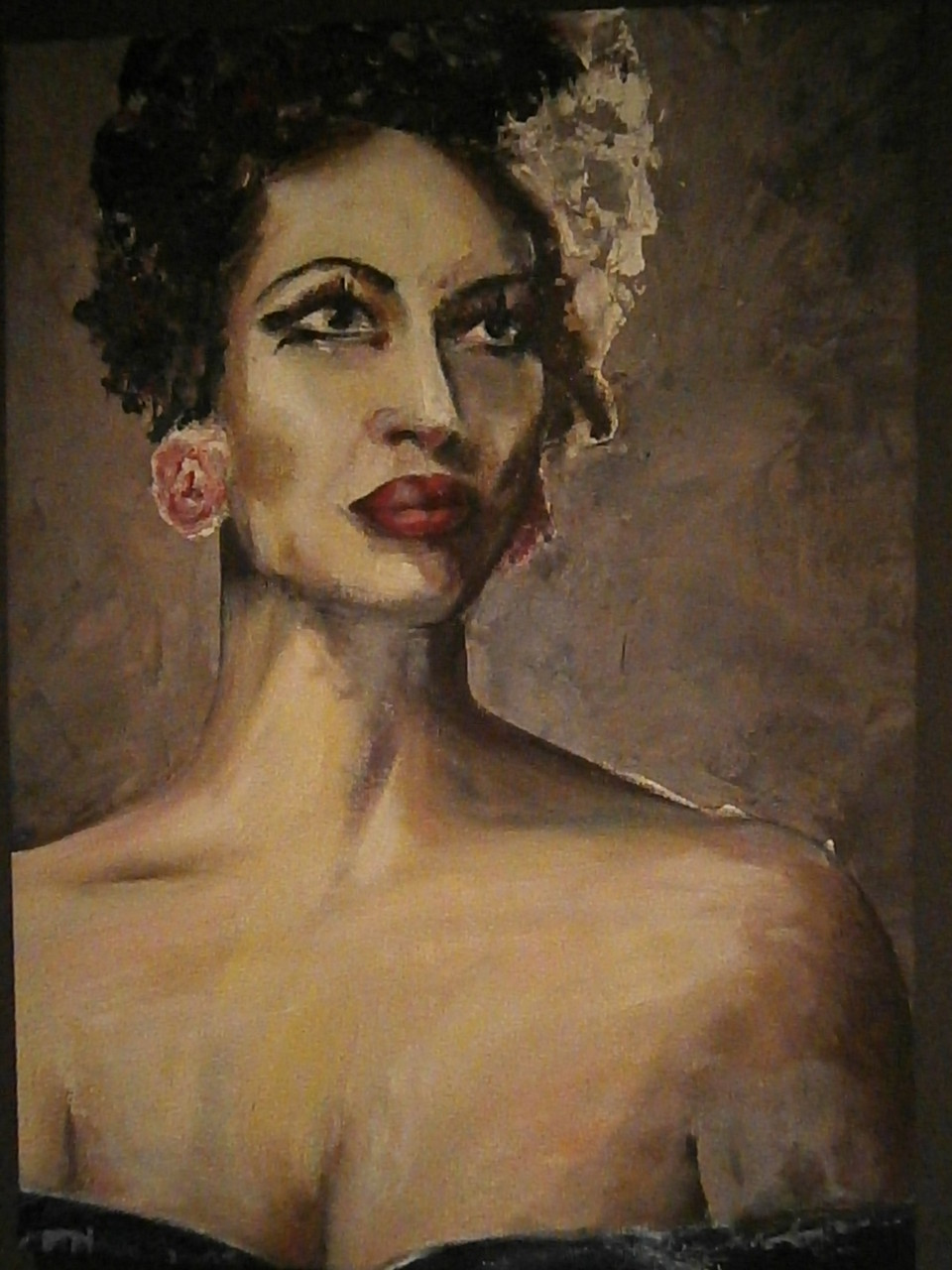 Billie Holiday                            Acryl on canvas 80x60