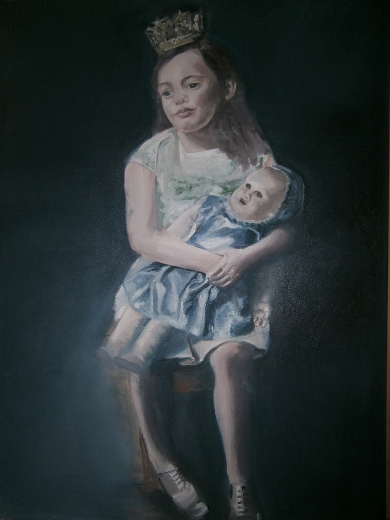 Girl with the doll                       Oil on canvas 80x60