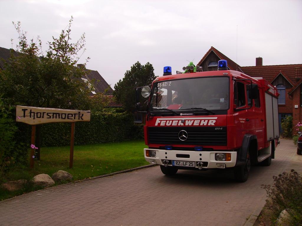 Brandschutzunterweisung in der Einrichtung Thorsmoerk, 2011