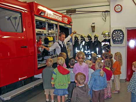 Brandschutzerziehung mit dem Kindergarten, 2008