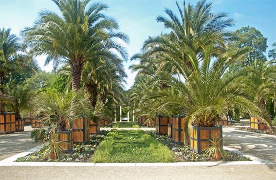 Le parc des curistes avec la palmeraie située le plus au nord de l'Europe.