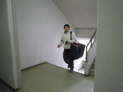 二階へ行って・・・