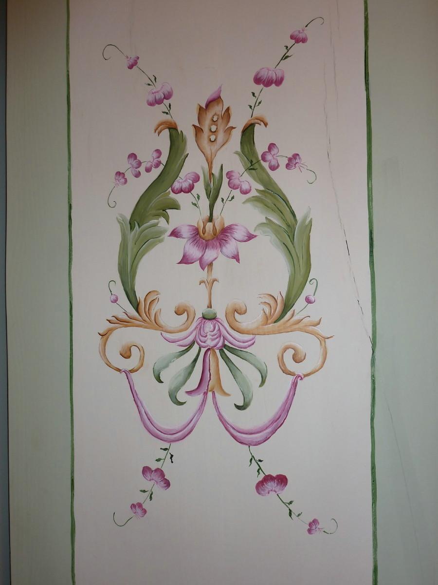 motif de l'armoire peinte main