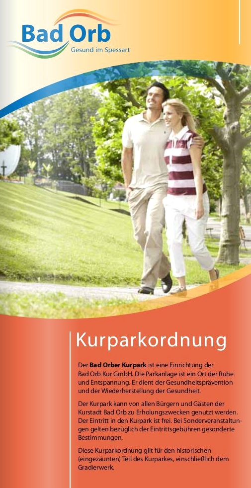 Bad Orb Kurparkordnung - Kurpark