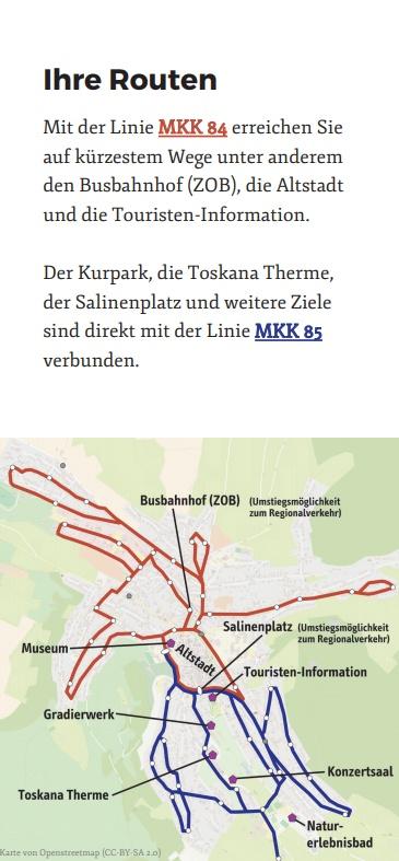 Flyer Stadt Bus Bad Orb - Routenplan