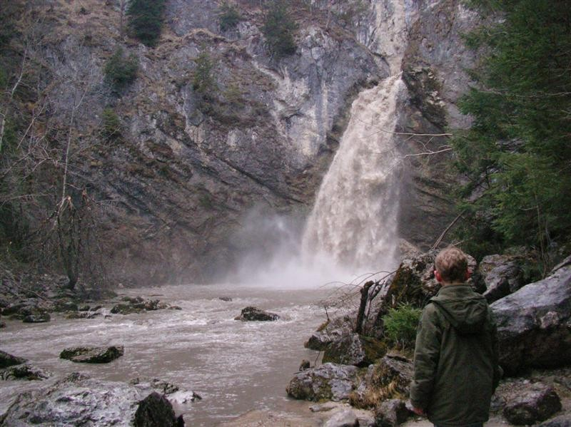 Das ist der Wasserfall der Salza.