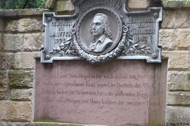 08.06.2015 - Hölderlin-Denkmal in Lauffen am Neckar