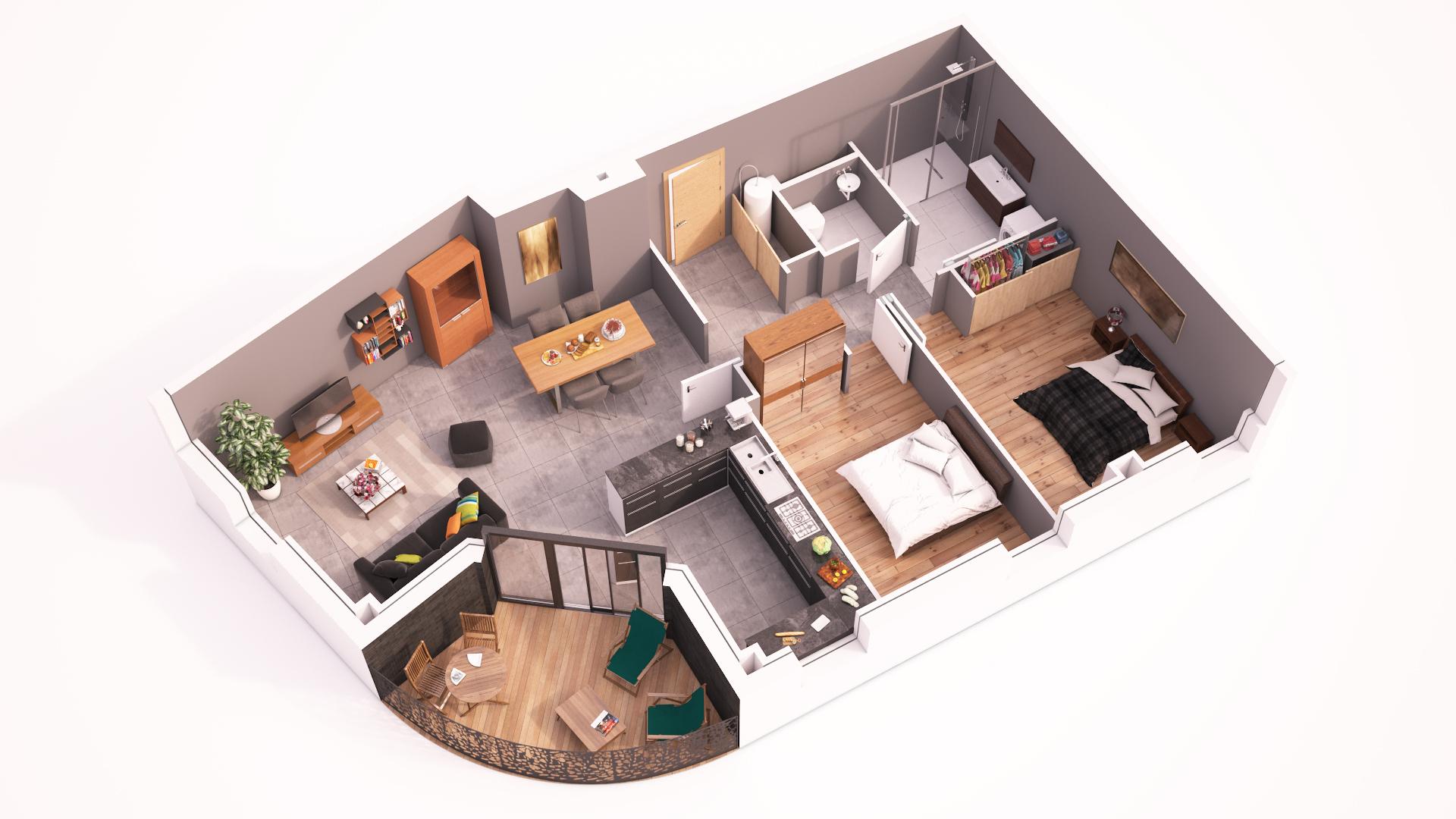 plans r sidence les terrasses. Black Bedroom Furniture Sets. Home Design Ideas