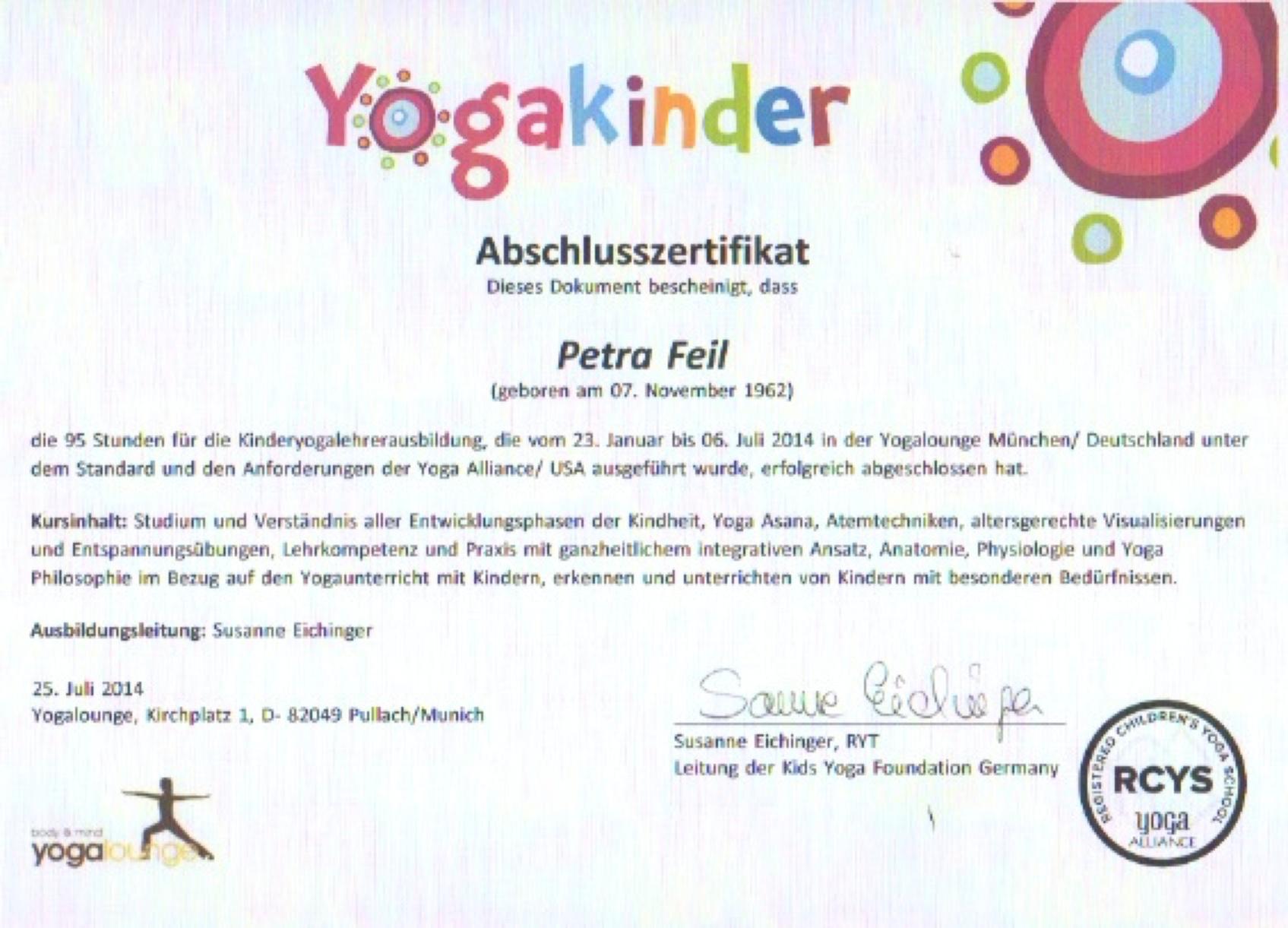 Yogalehrerin für Kinder und Jugendliche
