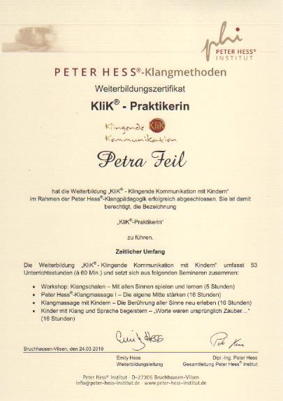 KliK-Praktikerin Klangpädagogik-Kinder