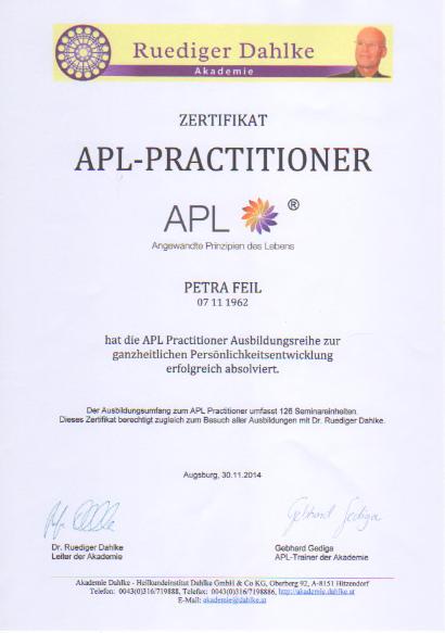 APL-Practitioner - Rüdiger Dahlke