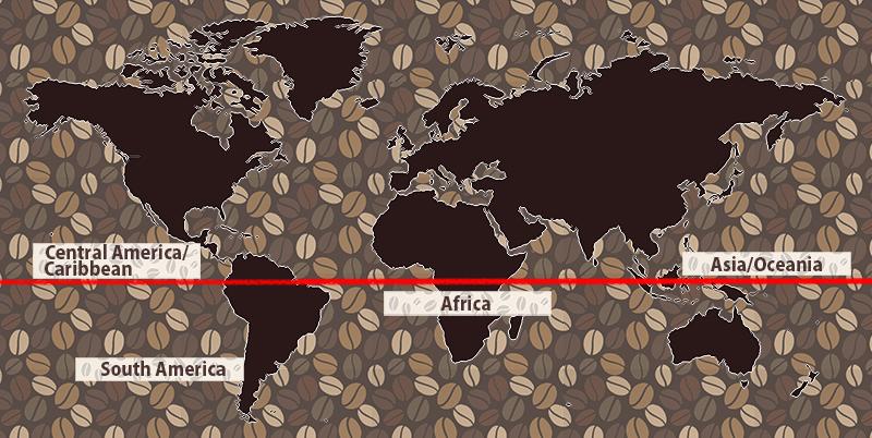 世界の珈琲マップ