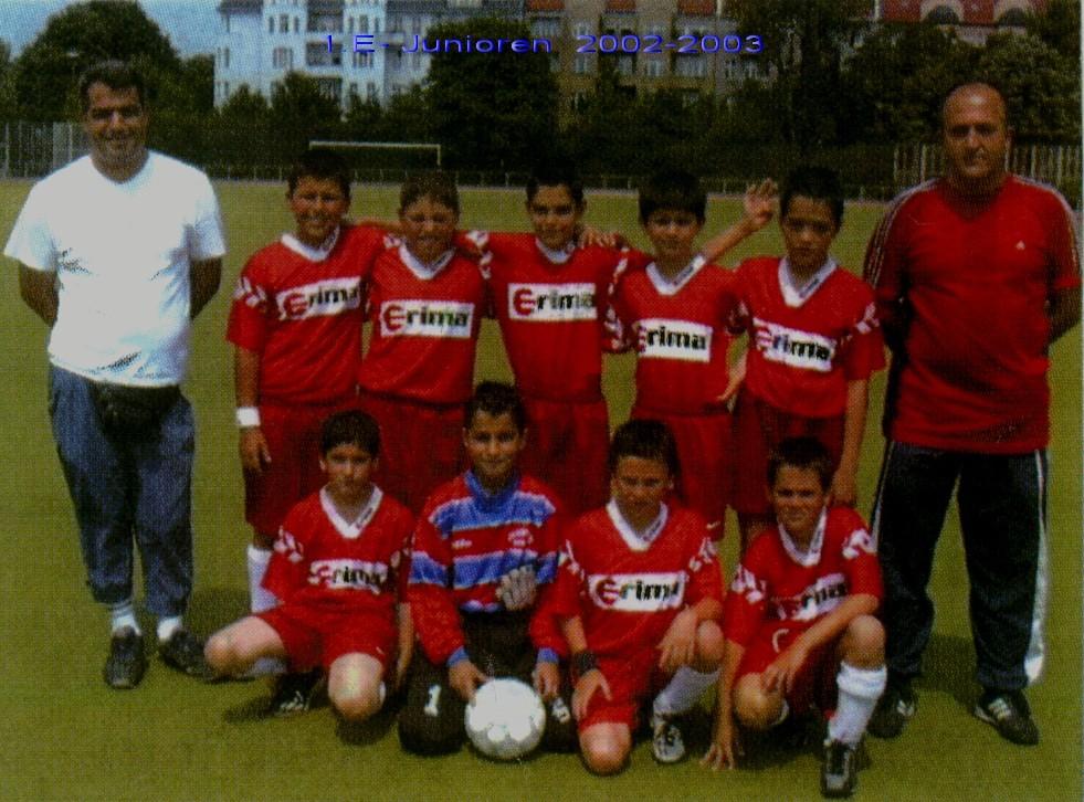 als Trainer der 1.E 2002-2003