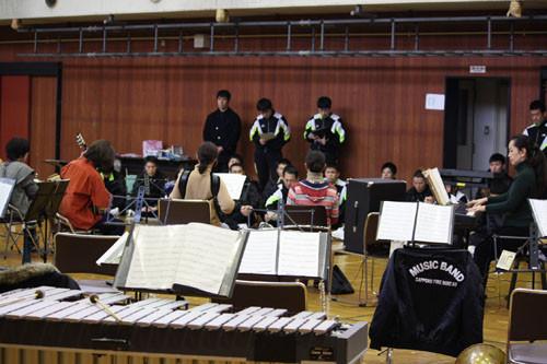 新川の札幌市消防学校でのリハーサル(2014/1/18)