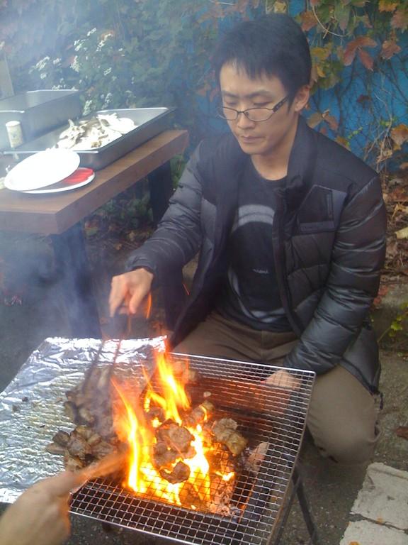 Porkbelly BBQ is very popular in Korea.