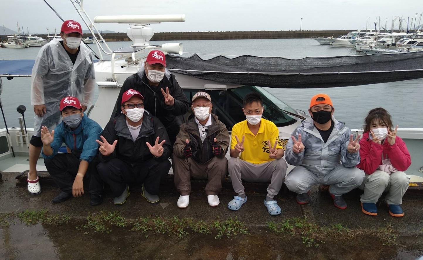 8月14日 遥人丸さんでのチョーさんの釣り情報の取材
