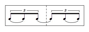 2拍3連のリズム
