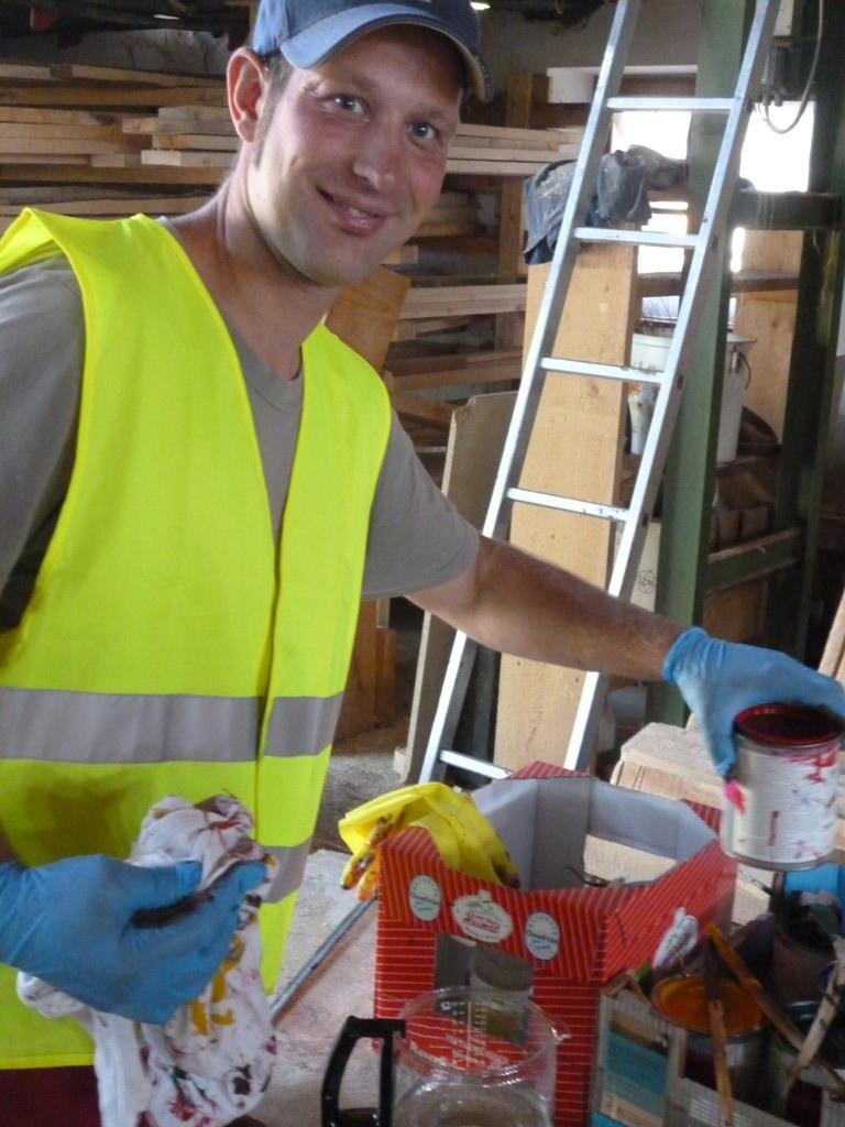 unser Mitarbeiter Jörg im Farbenrausch