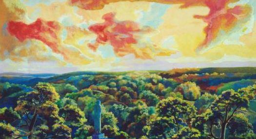 Golden Evening, Vladimir Skripnik, 1998, tempera, carton, 90x50, ID1113