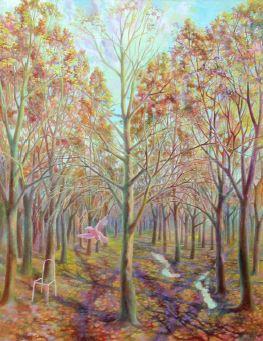 Buildings by flora 2 (diptych), Vladimir Skripnik, 2003, oil, canvas, 70x90, ID1110