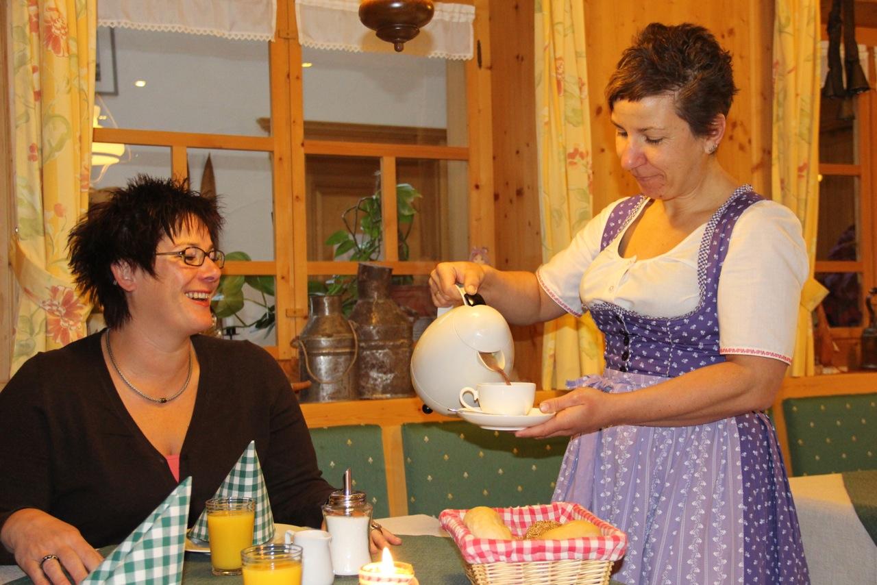 Frühstück mit Christine und Bernd, immer eine Gaudi!