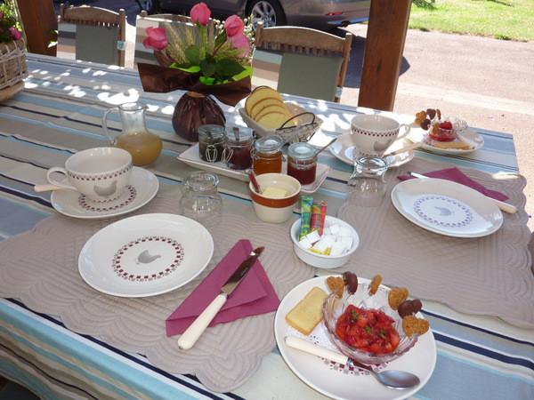 Petits déjeuners sous la Charreterie le matin... Que du bonheur !