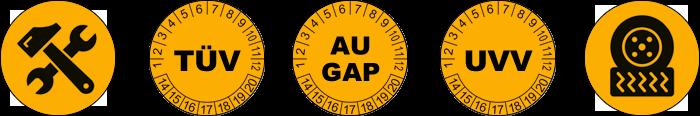 Reparaturen, TÜV, AU/GAP, UVV, Reifenservice