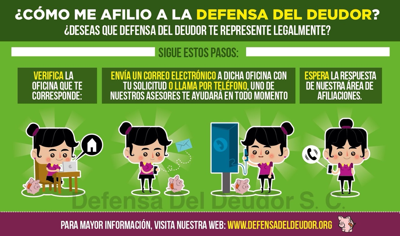 Afiliate - Defensa Del Deudor - Asesoría, defensa y negociación para deudas  por tarjetas de crédito, préstamos bancarios, hipotecas y automotrices.