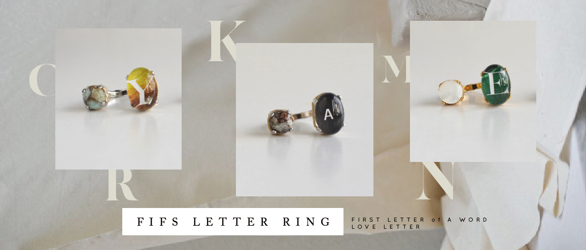 "SHOP in SHOP  ""FIFS LETTER RING ORDER EVENT""  1/7 - 12  @名古屋 advance"