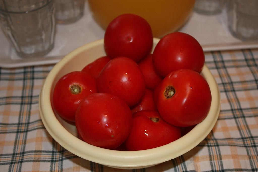 frische Tomaten aus dem Garten