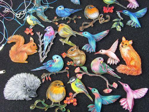 neue Vögel und weitere Wald- und Wiesenbewohner für meine Spielwiese