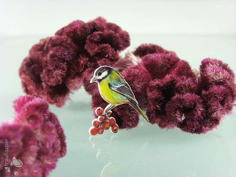 Meisenbrosche || Great tit brooch