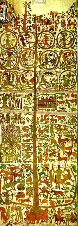 オートラントの大聖堂の床の巨大モザイク画