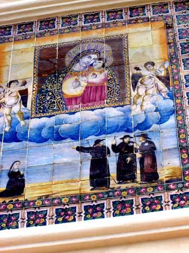 ガッリーポリの教会のタイル画