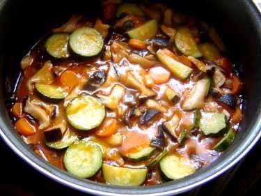 ニョッキのための野菜のソース
