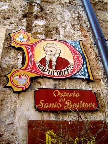 メザーニェ旧市街の看板