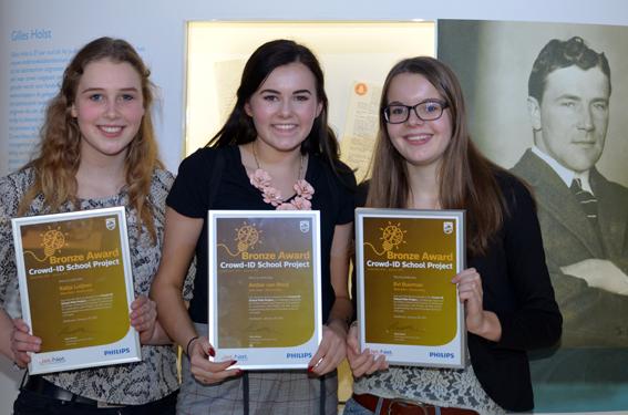 Leerlingen van het Technasium van het Eckartcollege winnen brons bij het Crowd-ID School Project.