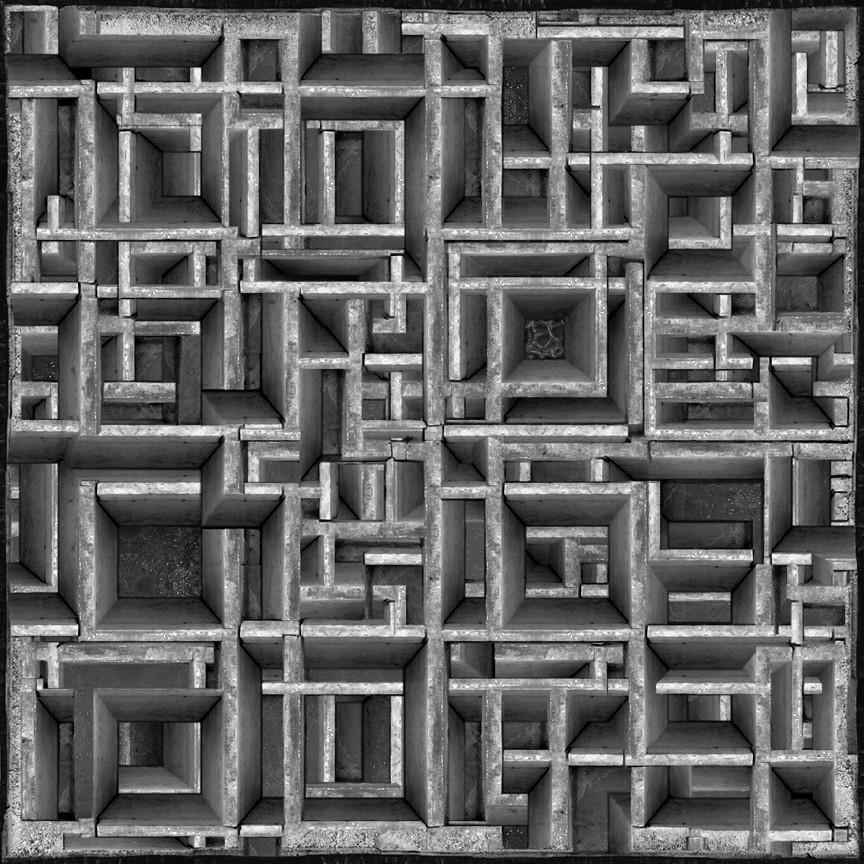 Untitled (Maze), 2009.  11 x 11 cm, ed. 10 I 15.7 x 15.7 cm, ed. 3